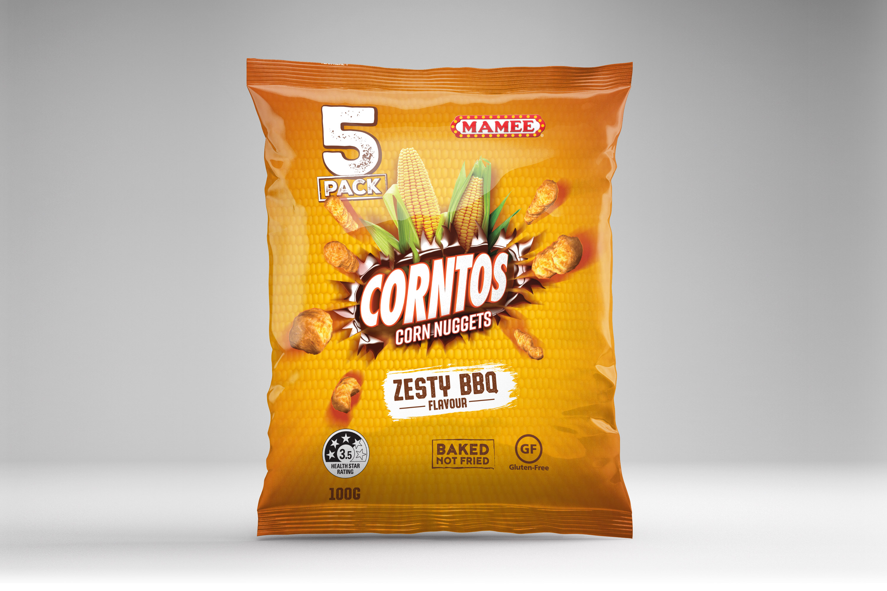 Mamee Corntos BBQ Packaging Design