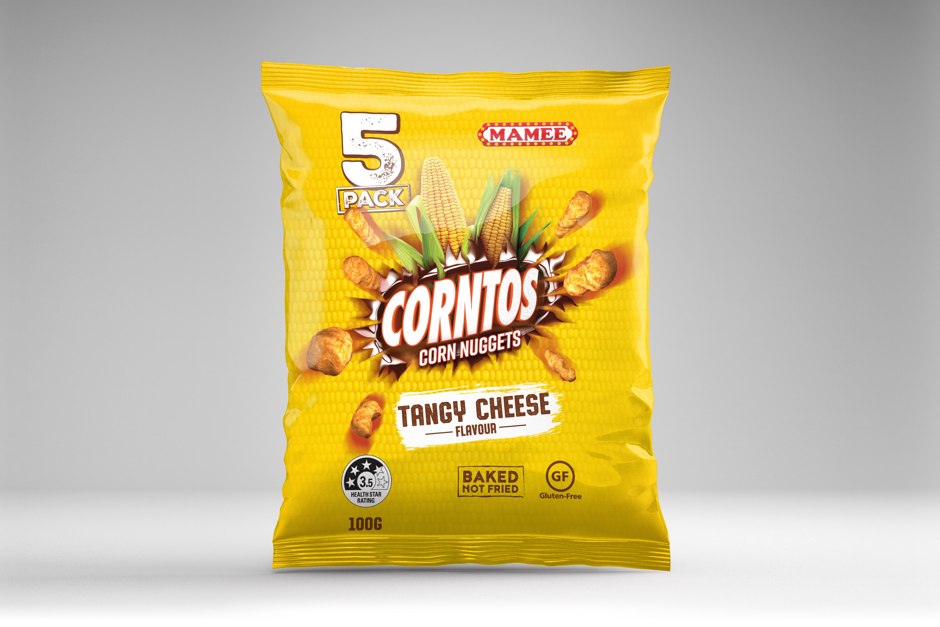 Mamee Corntos Cheese Packaging Design