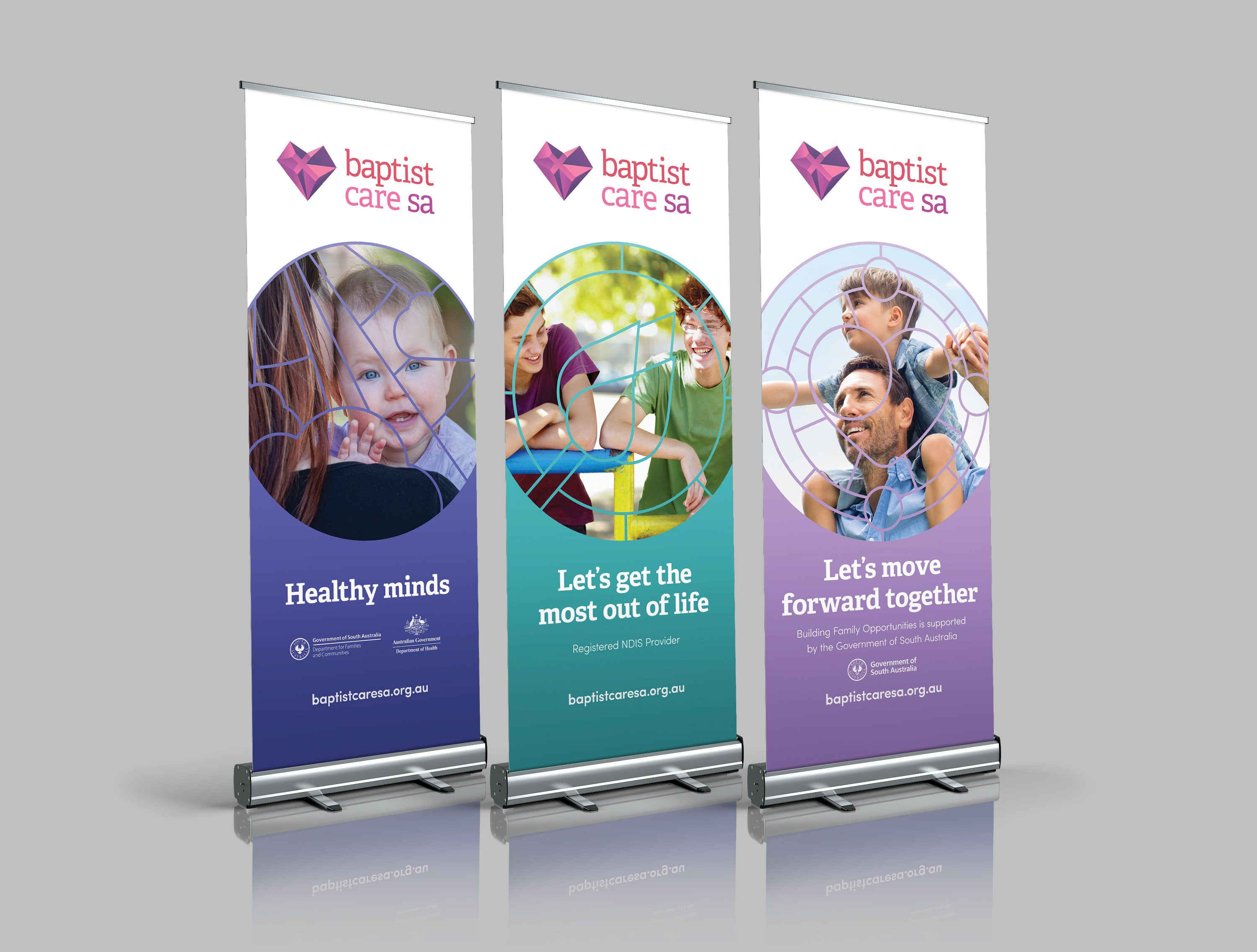 Baptist Care SA Pull Up Banners