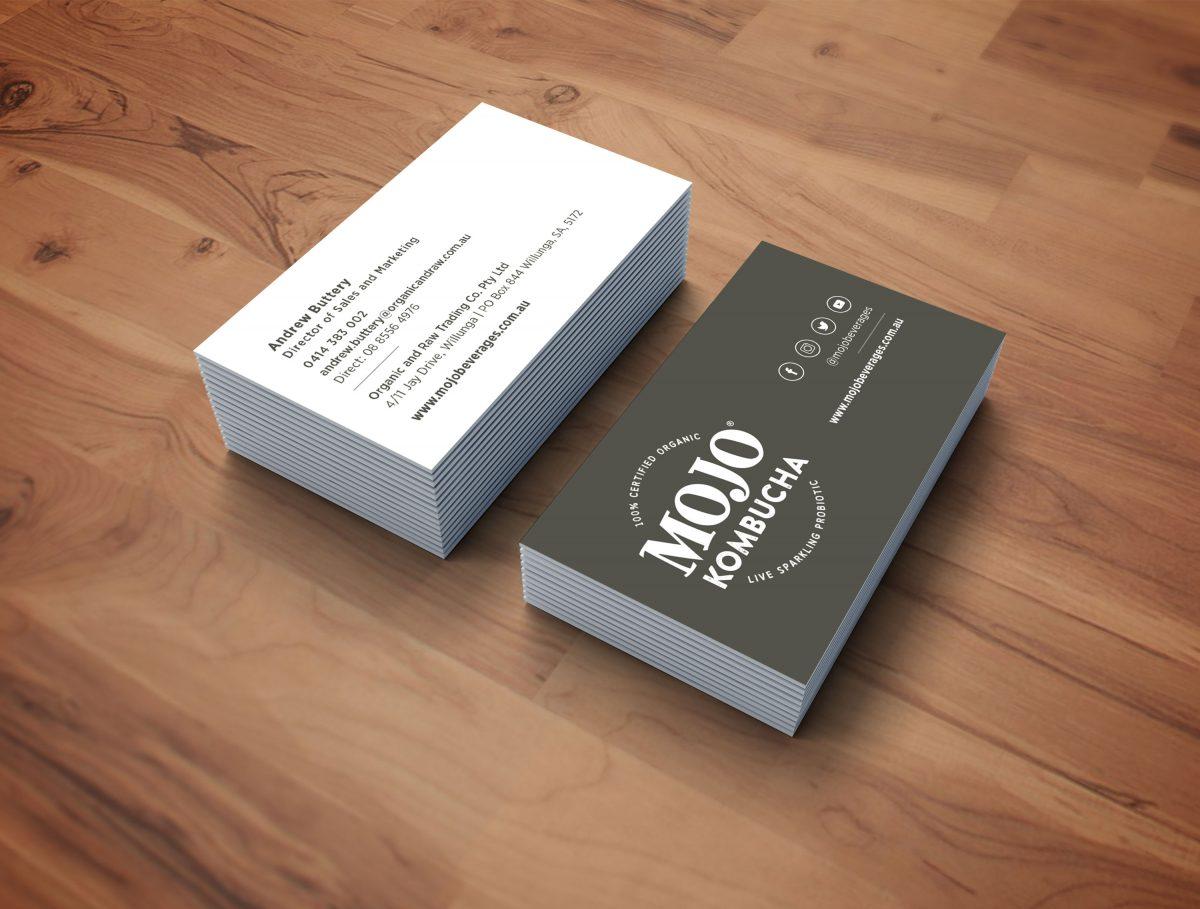 MOJO Kombucha Business Cards