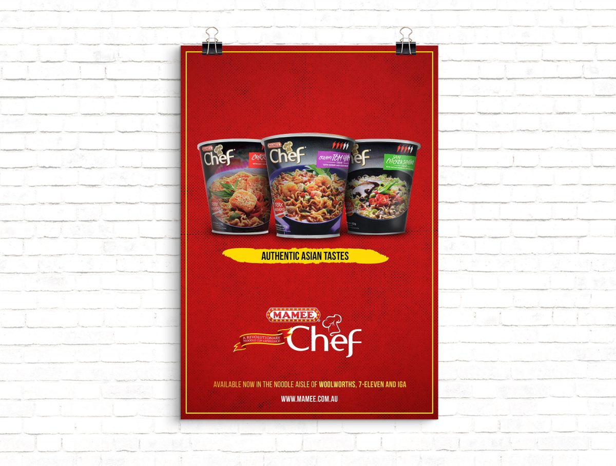 Mamee Chef Poster