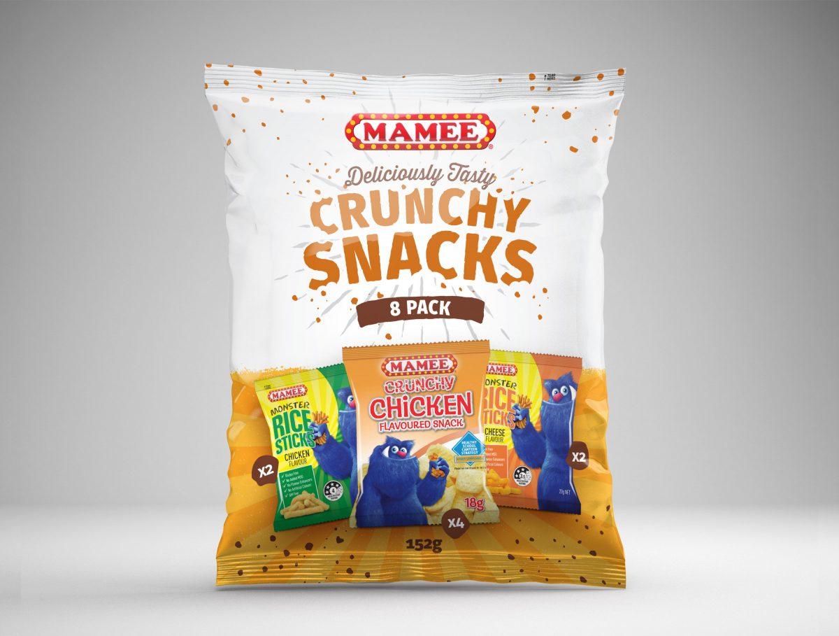 Mamee Crucnhy Snacks Packaging Design