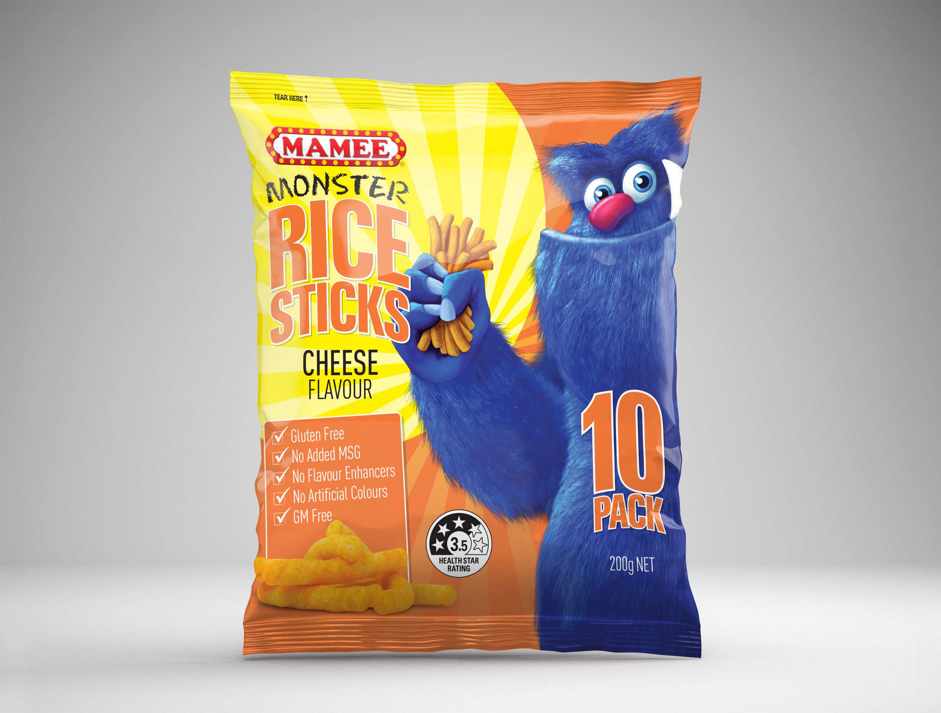 Mamee Rice Sticks Packaging Design