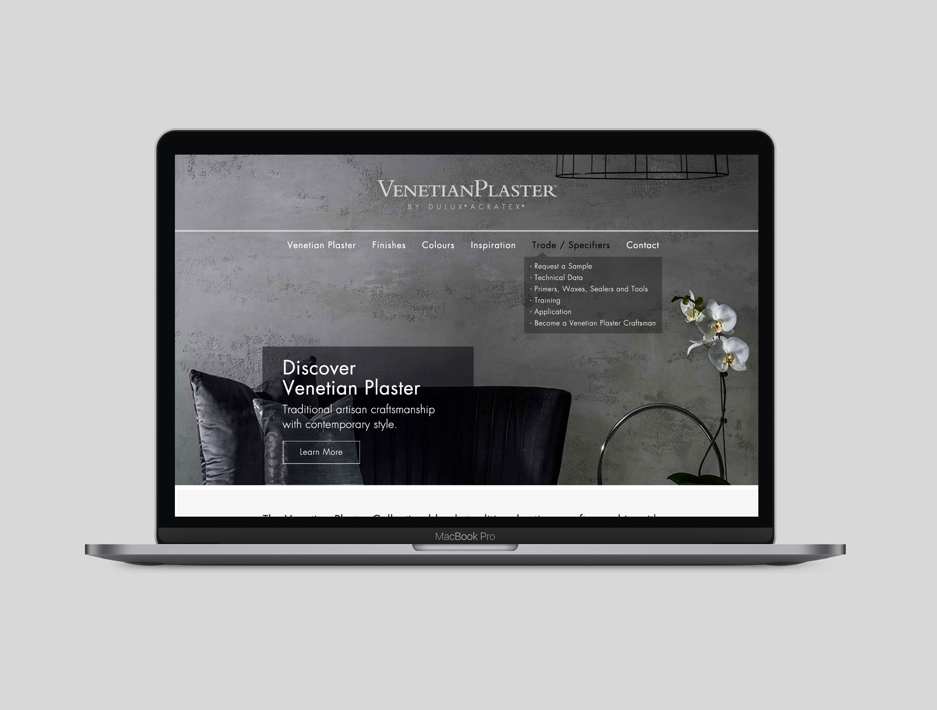 Venetian Plaster Website Design