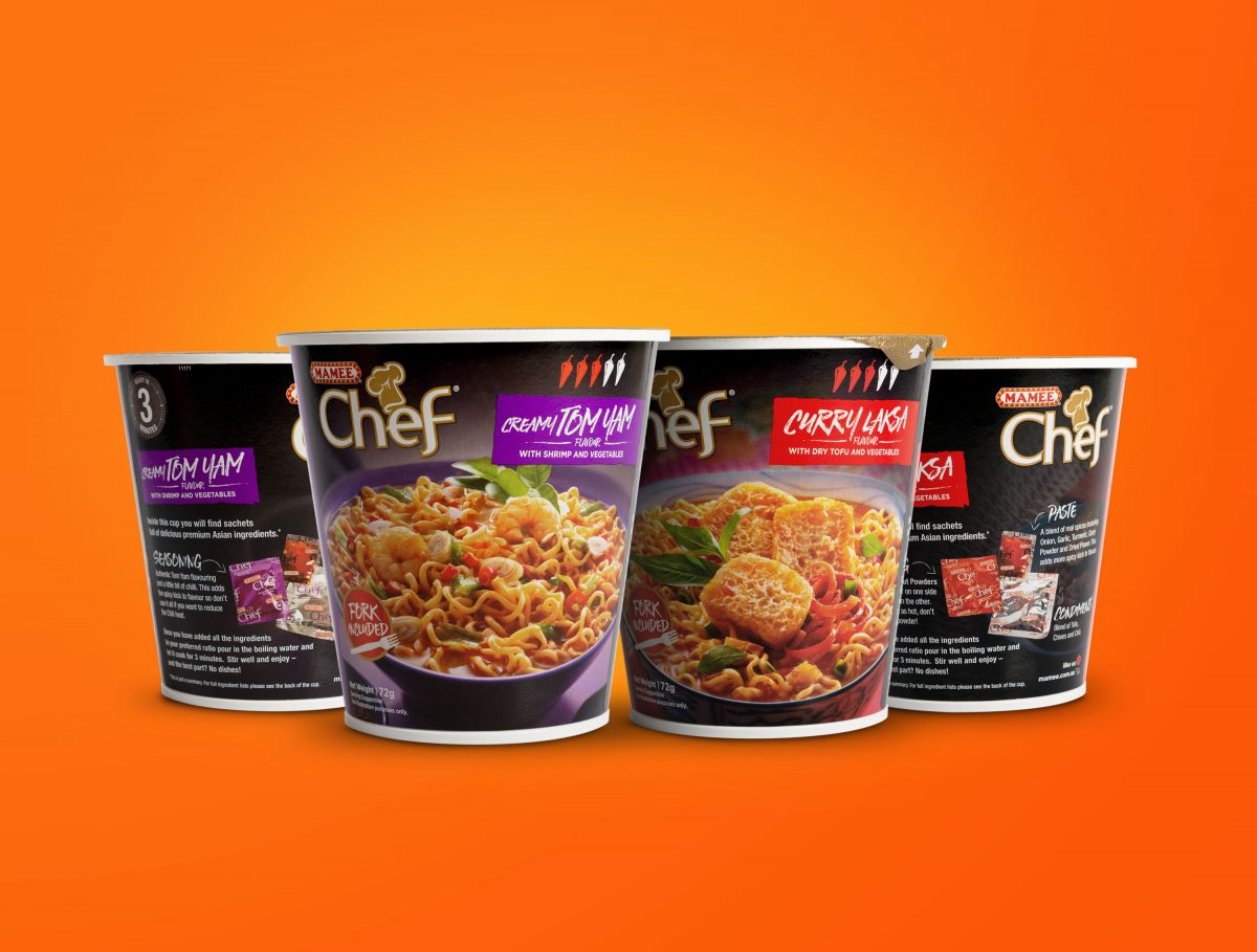 Mamee Chef Cup Noodles Packaging Design
