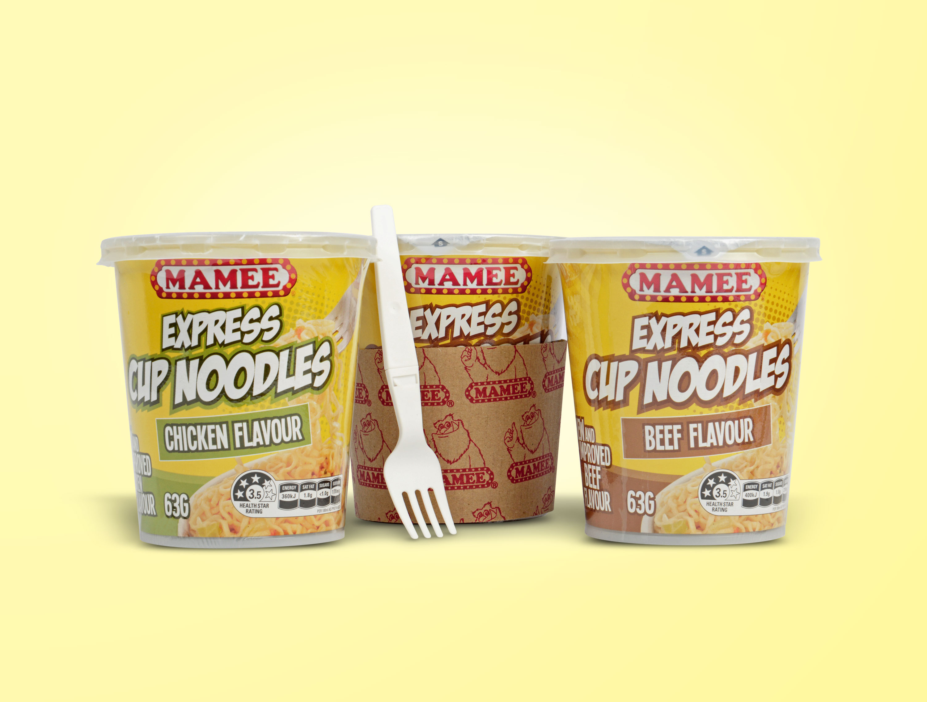 Mamee Express Cup Noodles Packaging Design