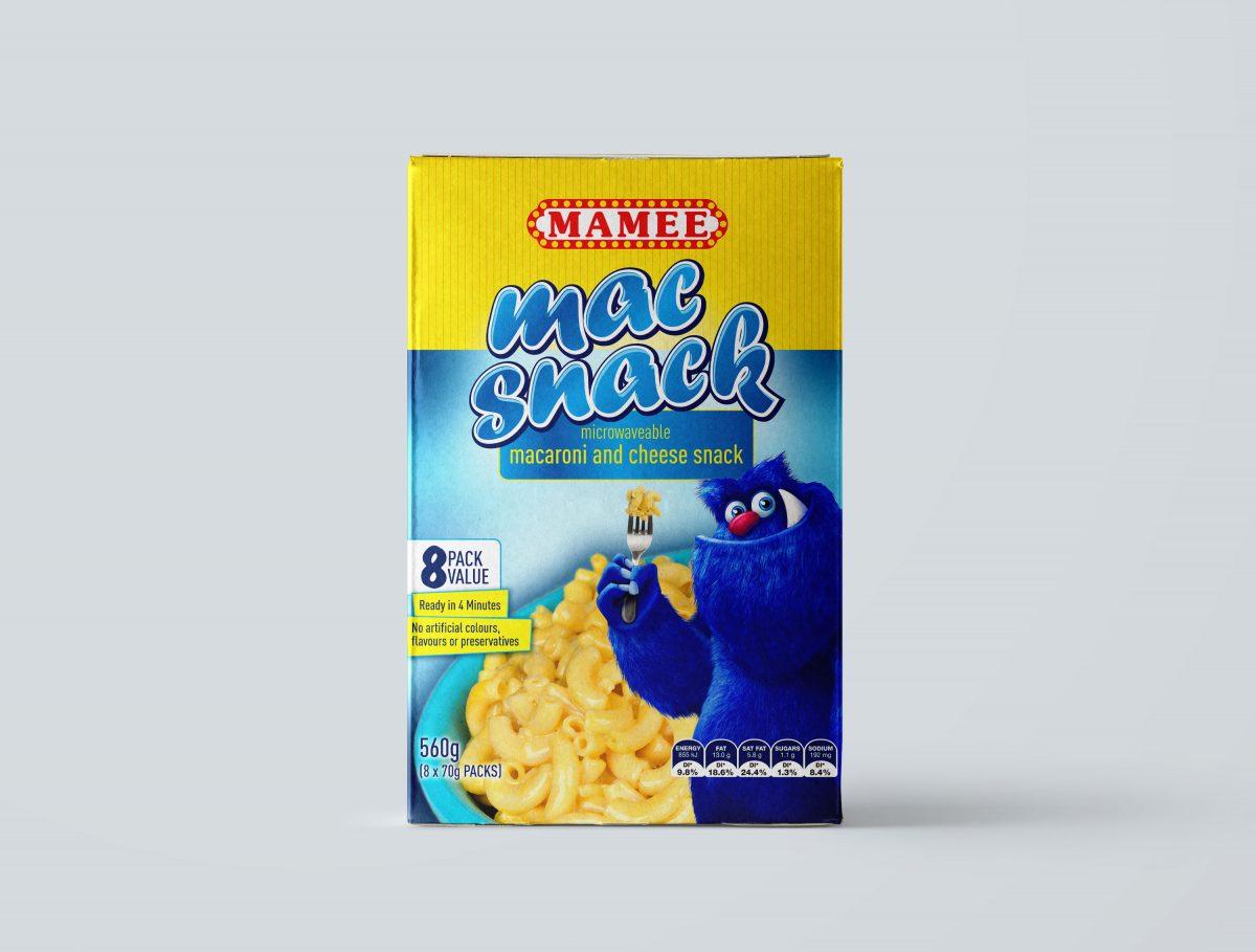 Mamee Mac Snack Packaging Design