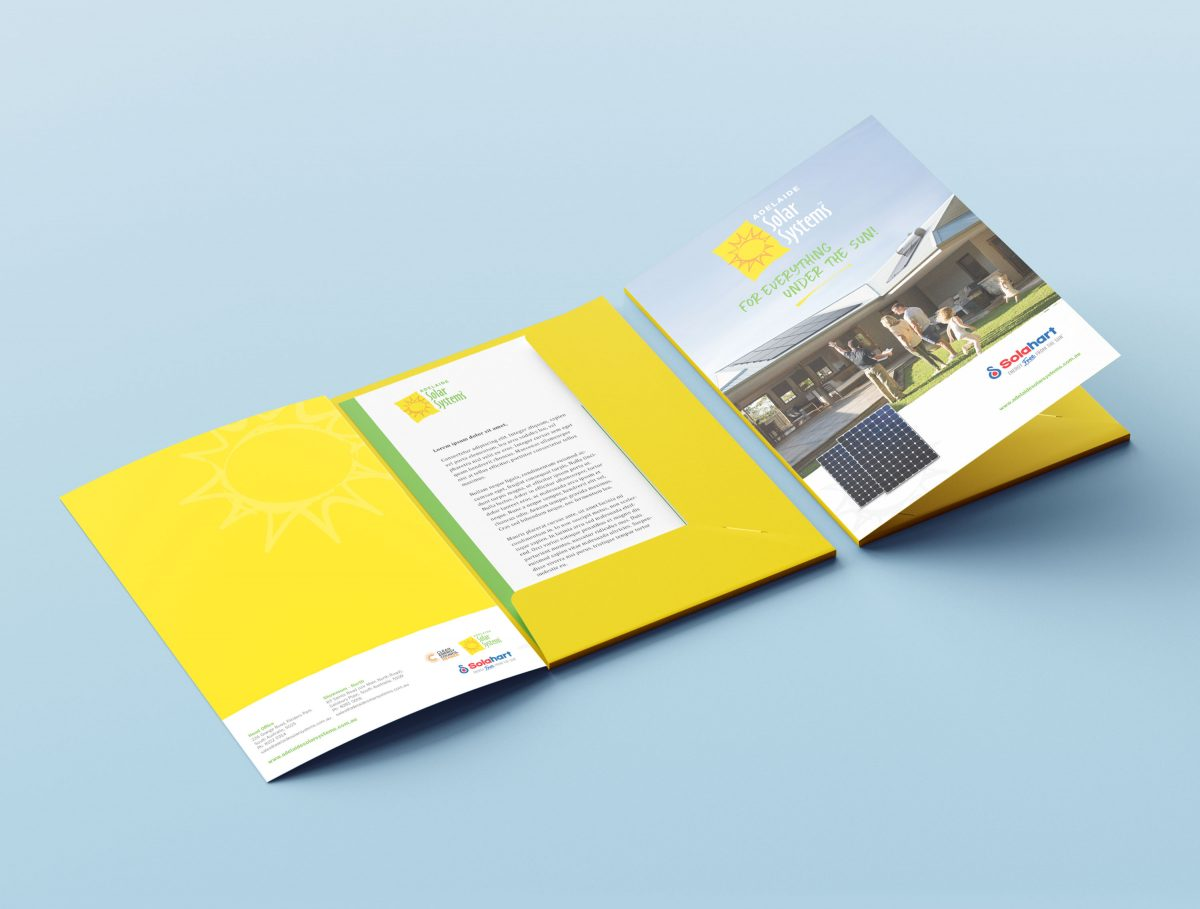 Presentation Folder Design Adelaide Solar Systems