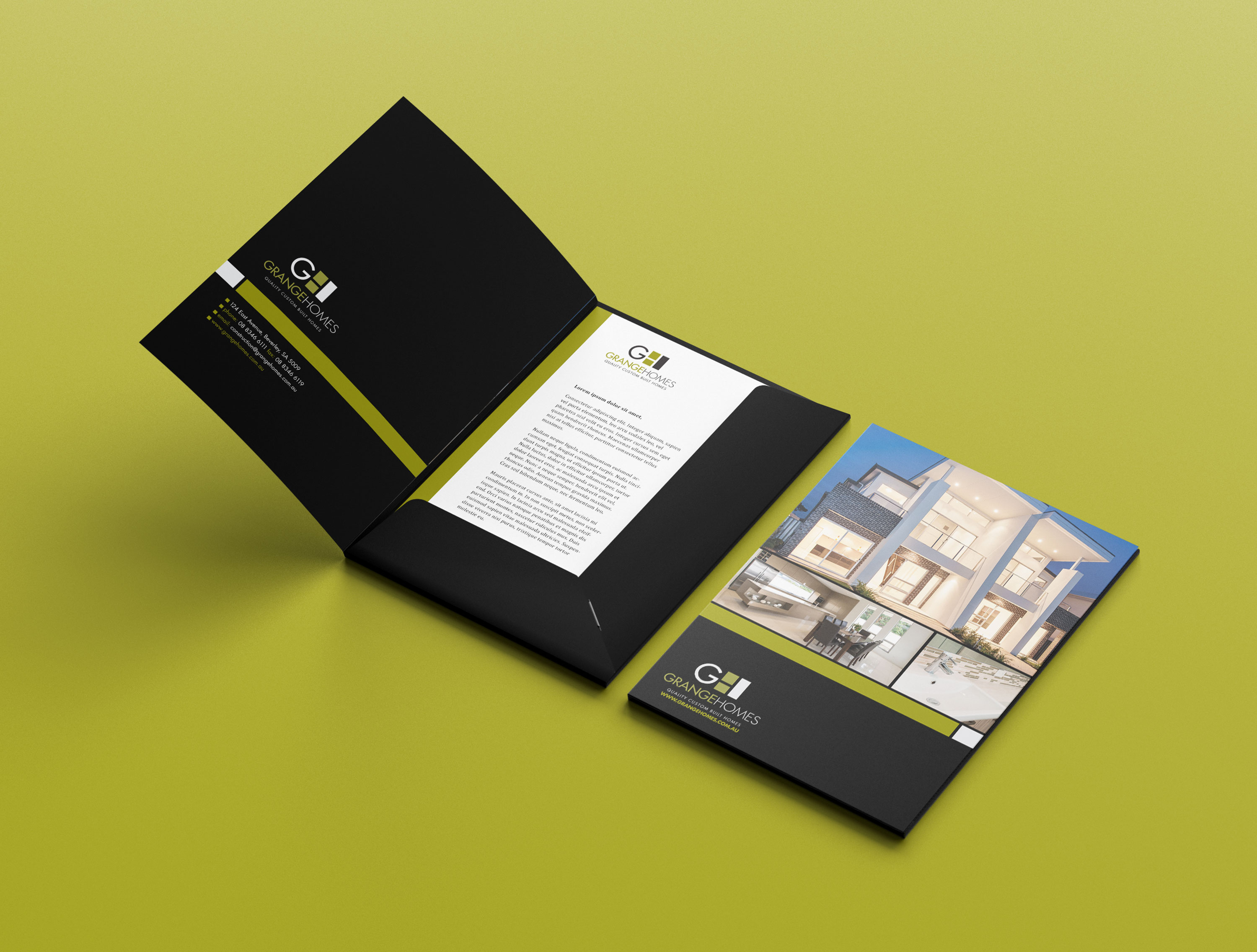 Presentation Folder Design Grange Homes