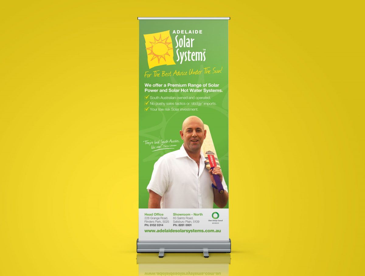 Pull Up Banner Sign Design Adelaide Solar Systems