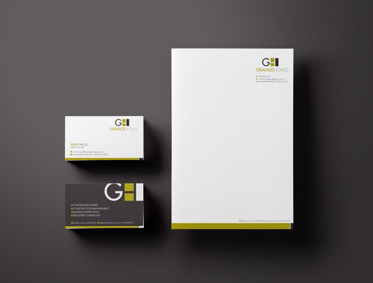 Stationary Business Card Letterhead Design Grange Homes