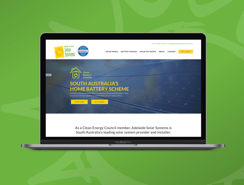 Website Design Development Adelaide Solar Systems