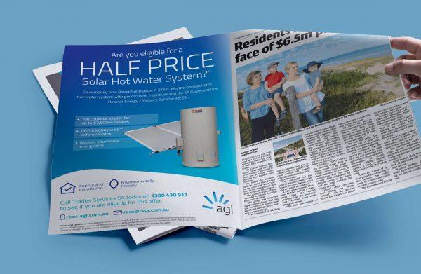 AGL Newspaper Advert