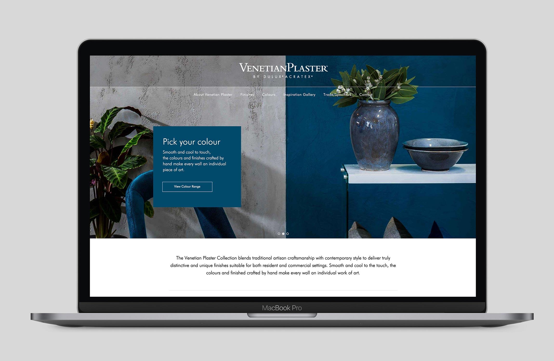 Dulux Venetian Plaster Website Design