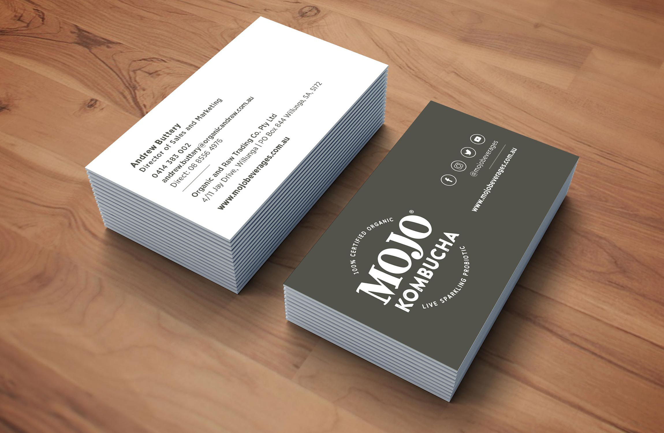 Mojo Business Card Stationary Design
