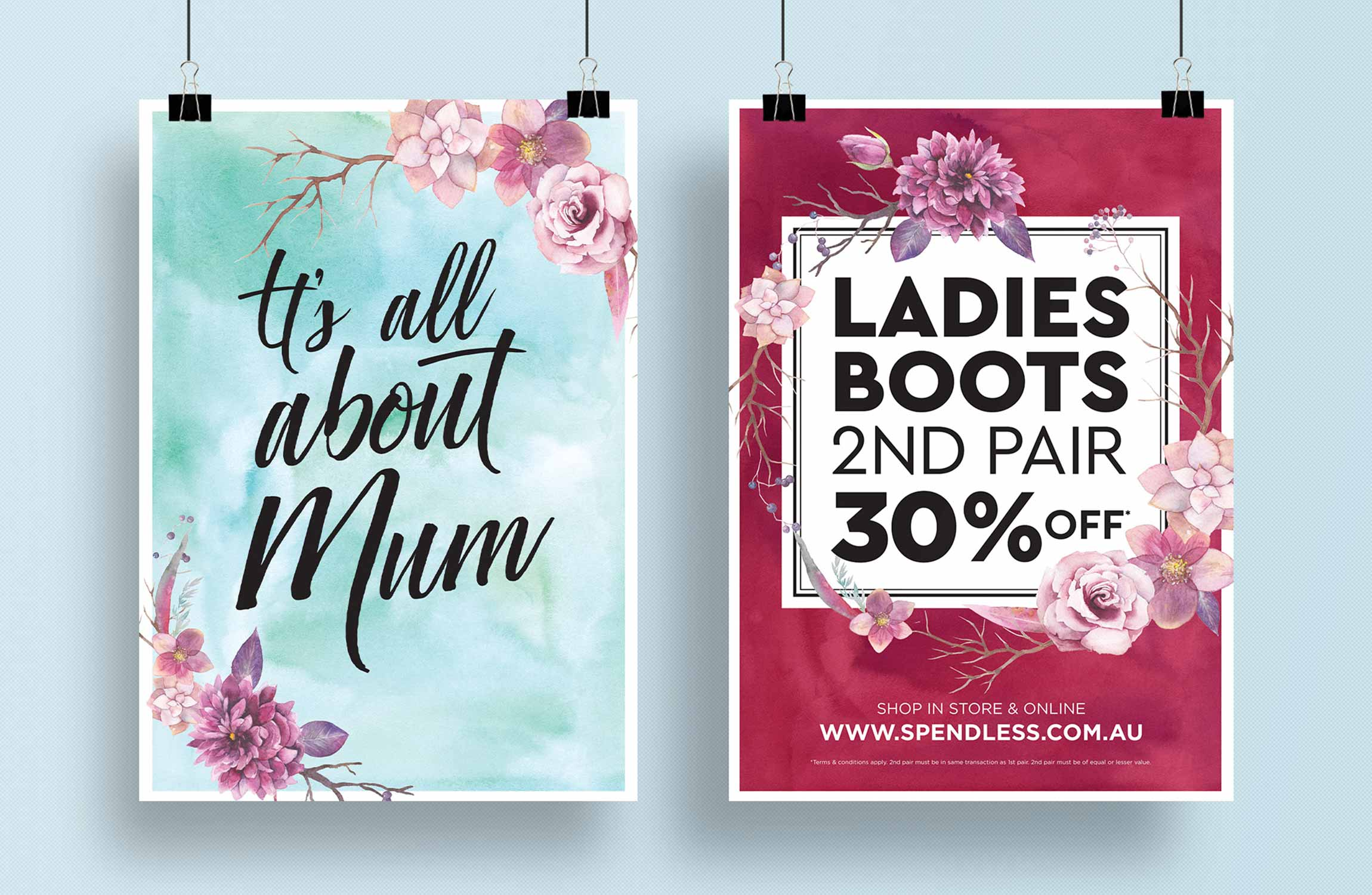 Spendless Mothers Day Posters